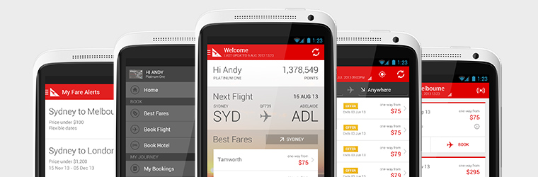 QANTAS introduces Android app