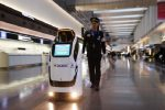 Haneda displays the robots on trial for Tokyo2020