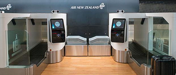 Air New Zealand biometric bag drop