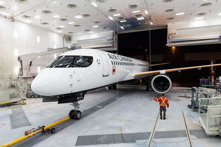 Air Canada's first Airbus A220