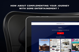 Air France app now offers press, video and music