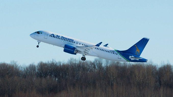 Air Tanzania first Airbus A220