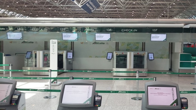 Alitalia introduces self bag drop at Rome Fiumicino