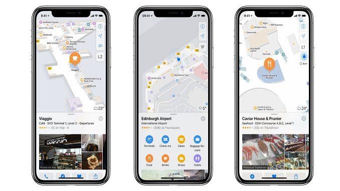Apple indoor maps - SYD-EDI-HIA