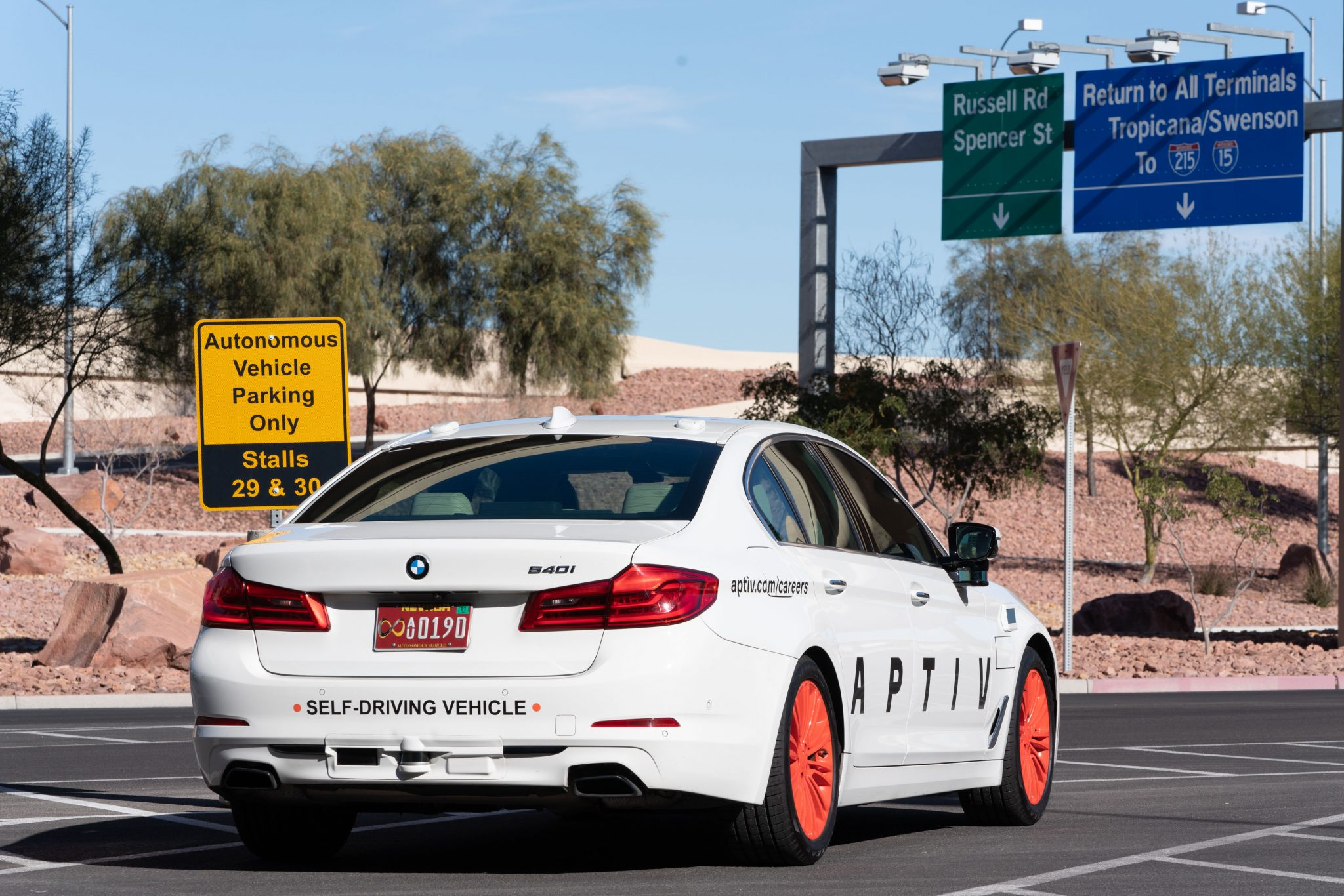 Aptiva self-driving at Las Vegas