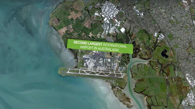 Auckland Airport bird's-eye