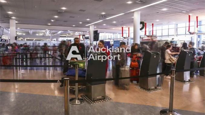 Auckland mobile self-service check-in kiosks