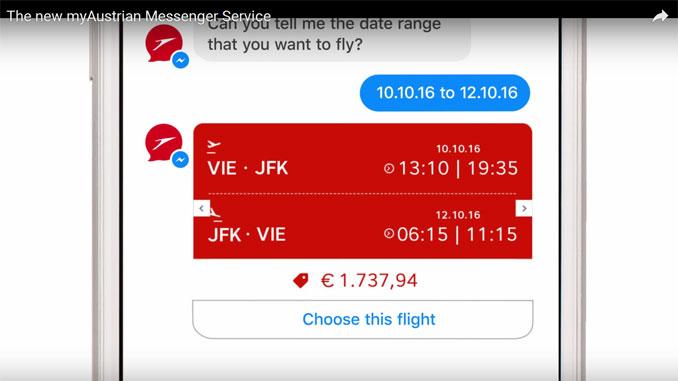 Austrian launches Virtual Assistant via Facebook Messenger