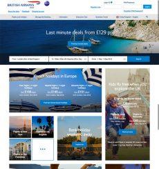 British Airways testing new ba.com homepage
