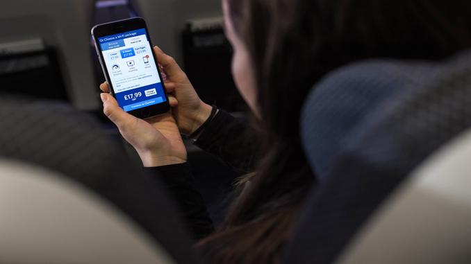 British Airways inflight Wi-Fi