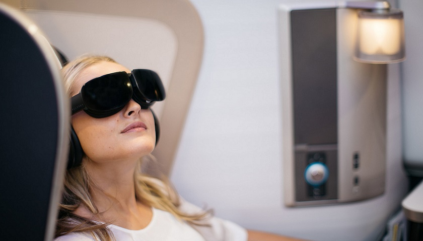 British Airways is trialling reality headsets in First on select flights [Image: Nick Morrish/British Airways]