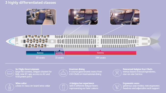 Brussels Airlines new A330 cabin