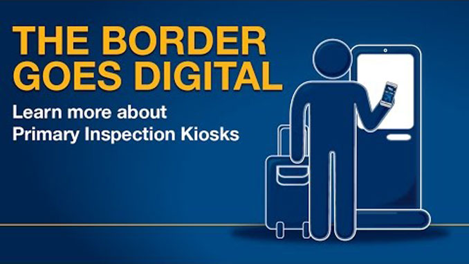 New self-service border control kiosks at Ottawa