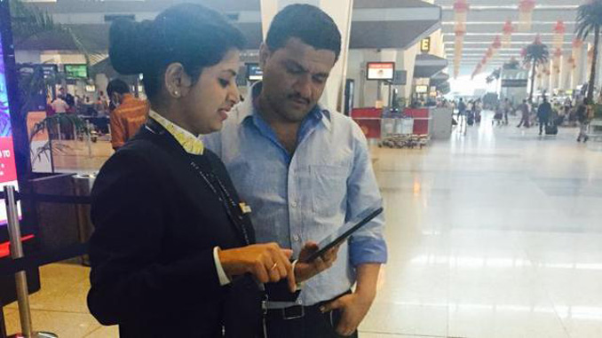 Delhi staff can now check-in passengers by mobile devices