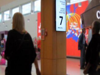 Edinburgh Airport displays live wait times for passengers