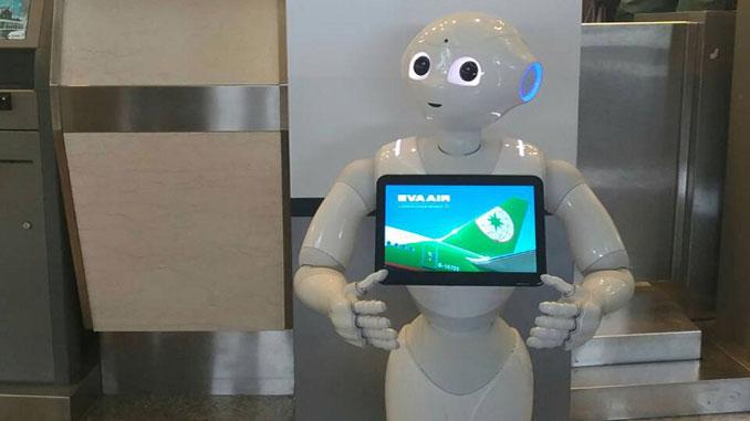 EVA introduces customer service robots at Taipei airports