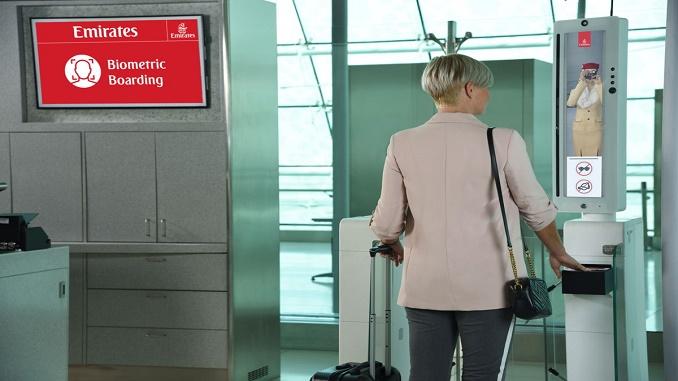 Emirates biometric boarding