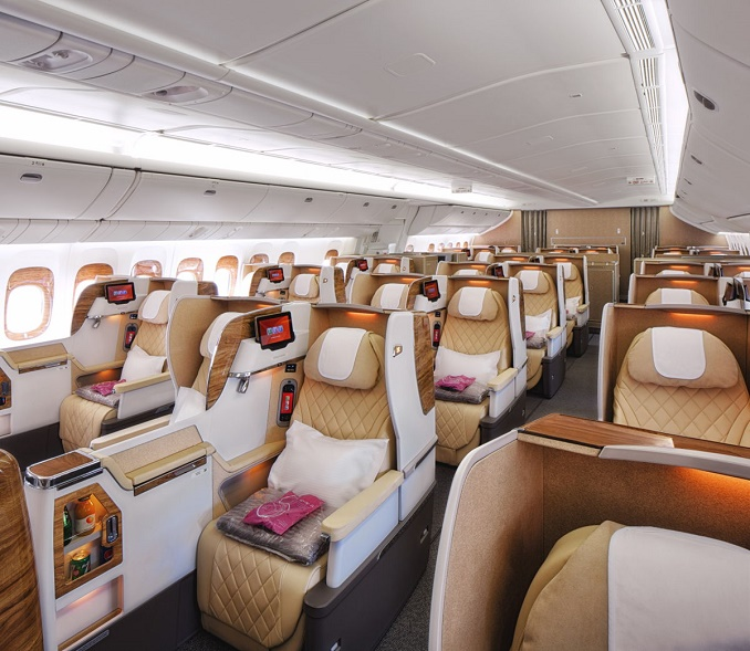 Emirates new B777 Business Class seats