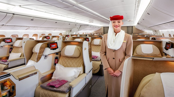 Emirates new B777 Business Class