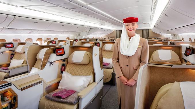Emirates new B777 Business Class