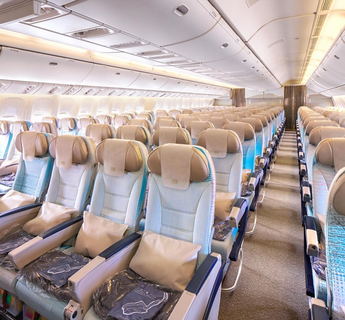 Emirates new B777 economy