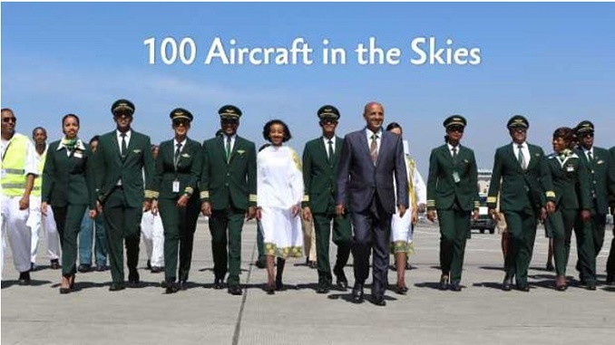 Ethiopian Airlines 100th aircraft in active service