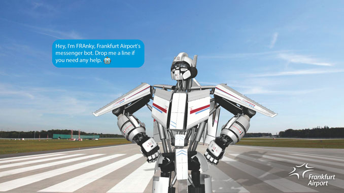 Messenger bot FRAnky welcomes passengers to Frankfurt Airport