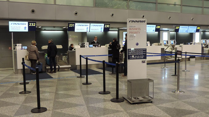Finnair testing biometric check-in at Helsinki