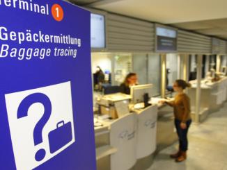 Baggage tracing desk at Frankfusrt