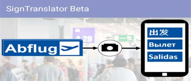 Frankfurt app features Sign Translator function