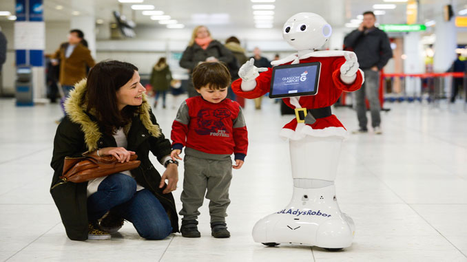 Glasgow introduces GLAdys - its robot staff member
