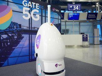 Helsinki Airport 5G robot