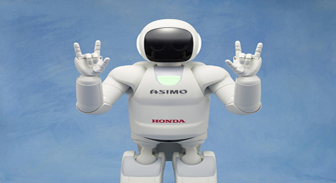 ASIMO welcomes passengers at Narita - PASSENGER SELF SERVICE