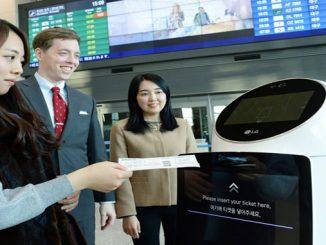 Korea airport robots