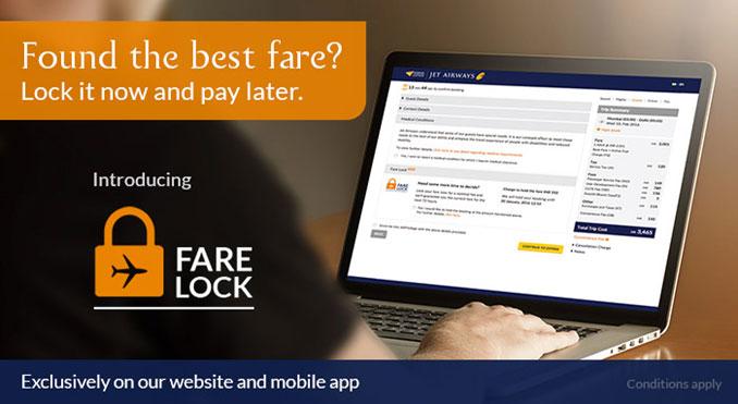 Jet Airways launches 'Fare Lock'
