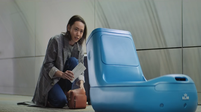 KLM trials robot that takes your hand bags to the gate