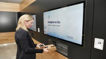 Lufthansa Delight to Go screen