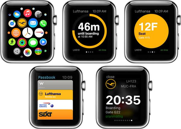 Lufthansa app for Apple Watch