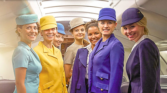 Lufthansa's live onboard fashion show