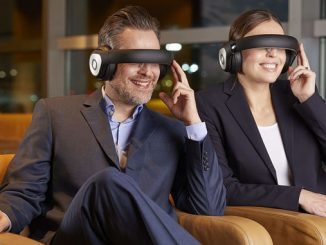 Try new video glasses in Lufthansa's Frankfurt Business Lounge