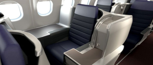 With 43-inch seat pitch, passengers have all the space they need to continue working comfortably.