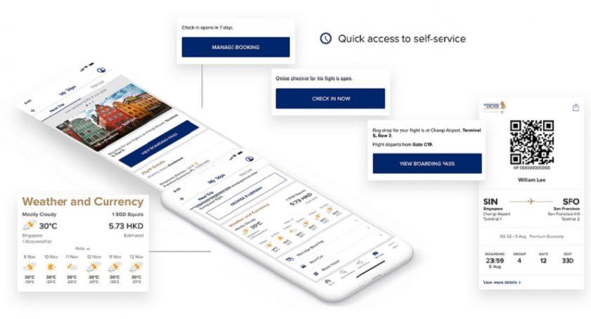 New SingaporAir mobile app