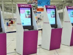 peach introduces check-in kiosks with large screens