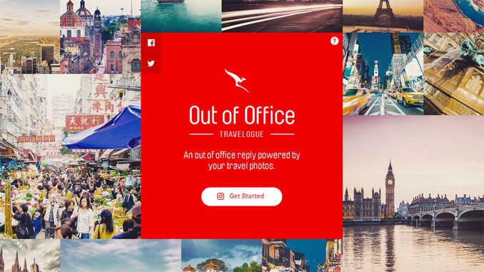 Qantas replaces Out Of Office message with a holiday photo