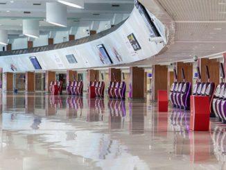 Royal Air Maroc self bag drop at Casablanca
