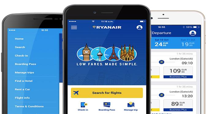 Ryanair updates mobile app