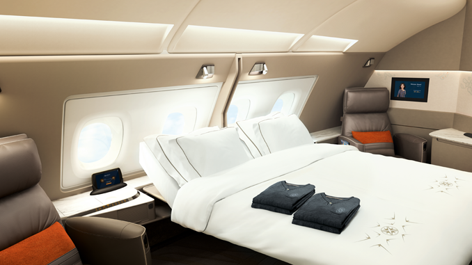 The beds in the first two Suites of each aisle can be converted to form a double bed