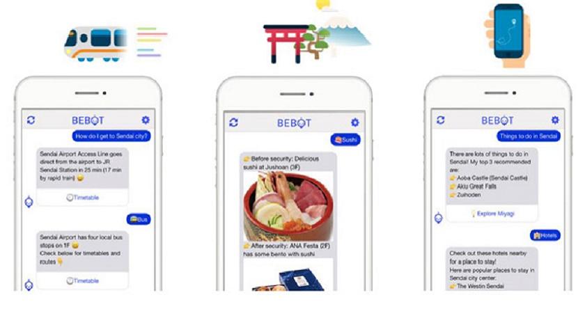 Sendai Airport Bebot chatbot