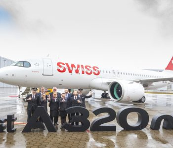 Delivery of first Airbus A320neo to SWISS