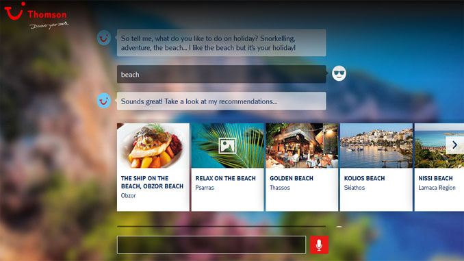 Thomson trials chatbot search tool for holiday suggestions